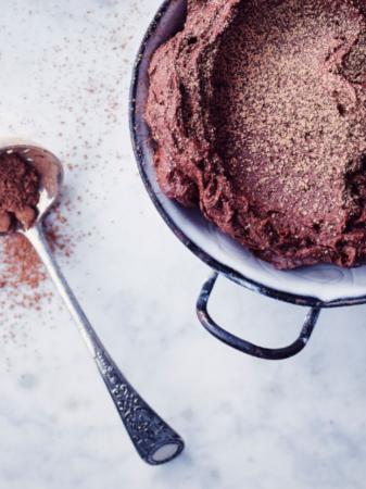 Suikervrije chocolademousse (4 personen)