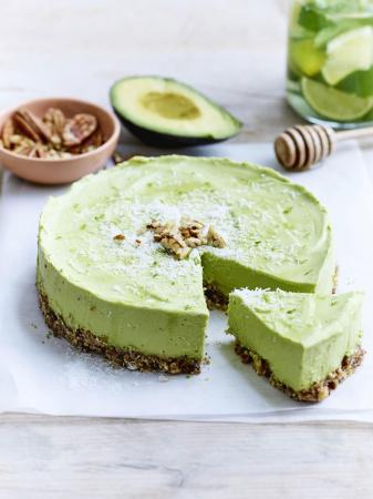 Cheesecake met limoen en avocado (4 personen)