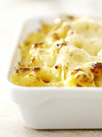 Macaroni met bloemkool en broccoli (4 personen)