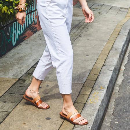 Tricolor sandaal