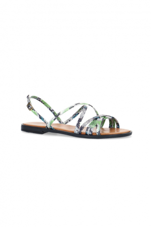 Groen sandalen met dunne riempjes