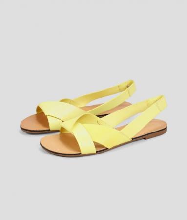 Citruskleurige sandaal