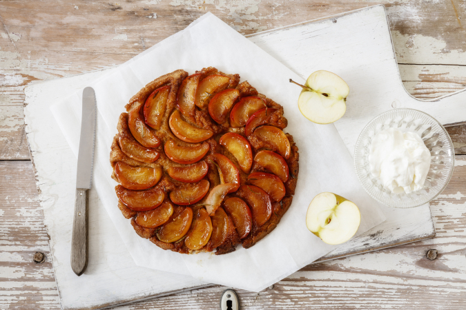 Placez vos fruits face bombée sur la pâte