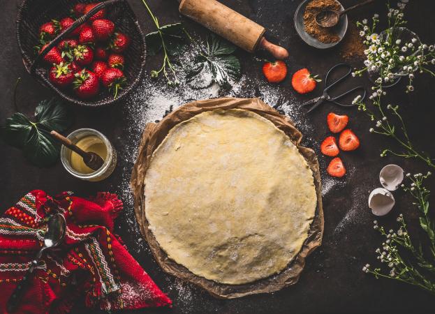 Badigeonnez votre pâte à tarte de chapelure