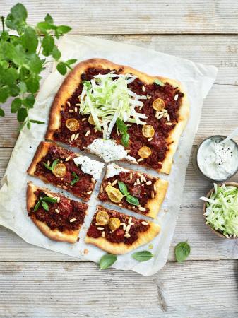 Turkse pizza met lamsgehakt