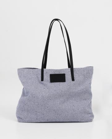 Grijze tas (100% gerecycleerd uit oude kleren)