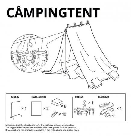 La tente de camping