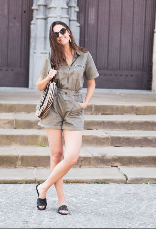 Kaki playsuit