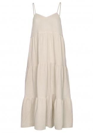 Beige katoenen jurk