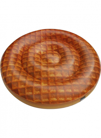 Pool float in de vorm van een stroopwafel