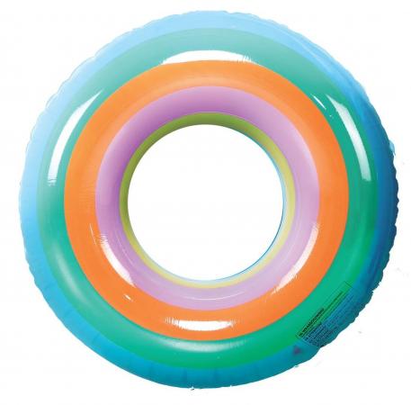 Regenboogkleurige zwemband