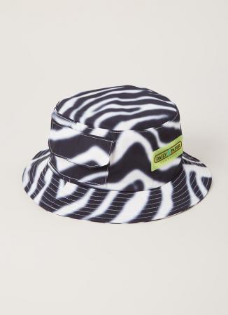 Bucket hat in zebraprint