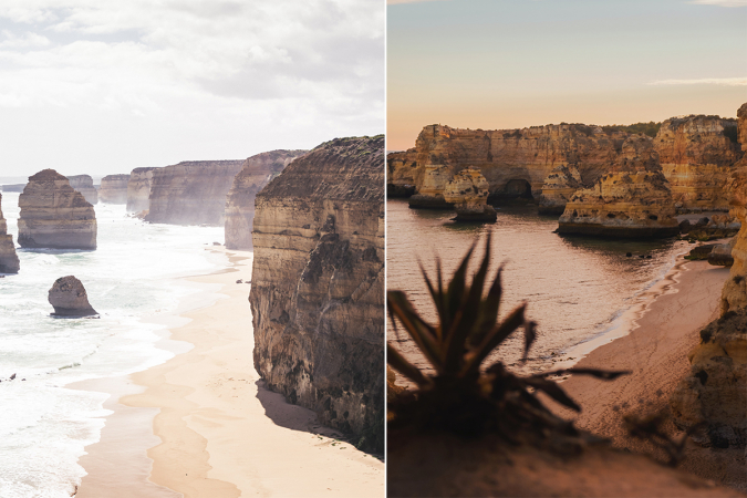De Australische kust vs. Algarve in Portugal
