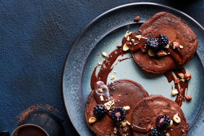 Chocoladepannenkoeken met hazelnoten