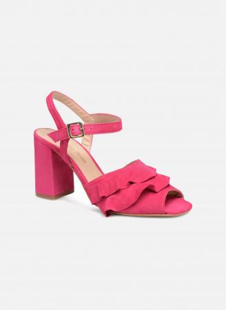 Fuchsia sandalen met volant