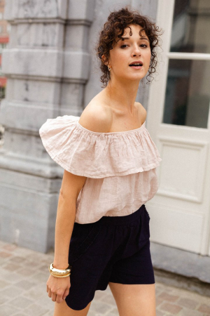 Pastelroze blouse