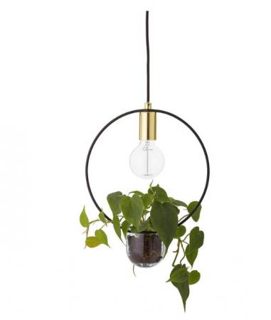 Hanglamp met bloempotje