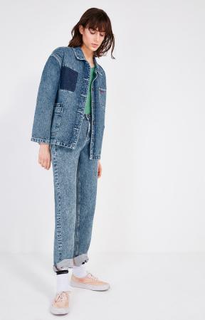 Veste en jean foncé
