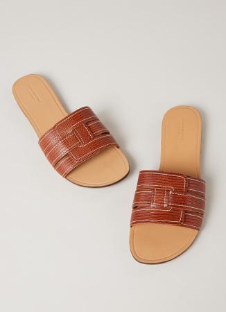 Slippers met wit stiksel
