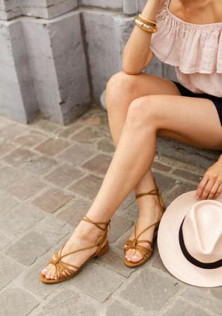Sandalen met koordjes