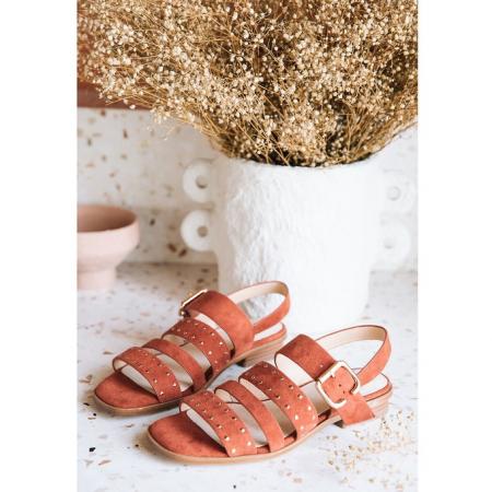 Sandalen met gouden details