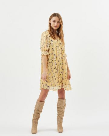 Gele jurk