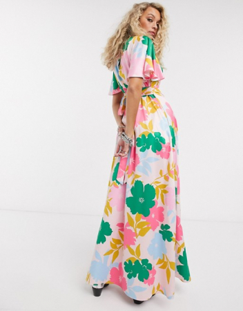 Lange jurk met rugdecolleté