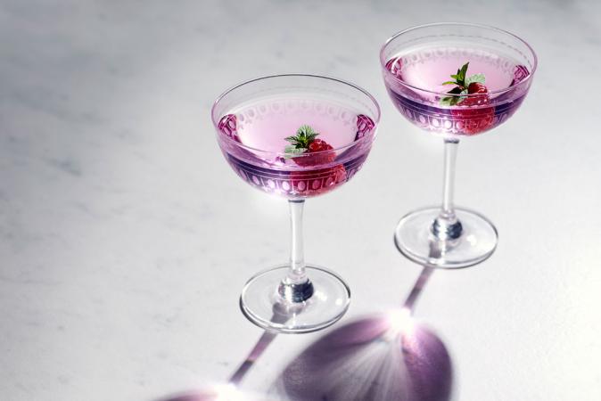Champagnecocktail met rosé
