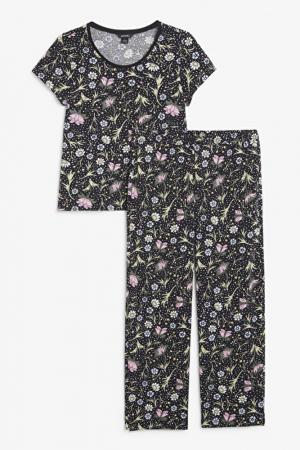Pyjamaset met bloemetjesprint