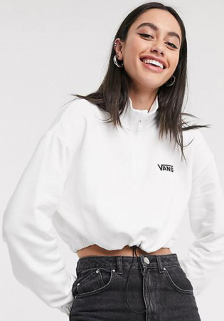 Witte cropsweater