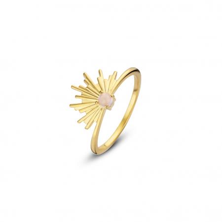 Gouden ring met zonsondergang