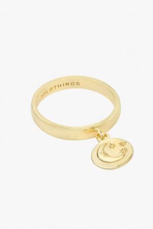 Gouden ring met maantje