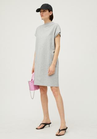 Grijze basic jurk