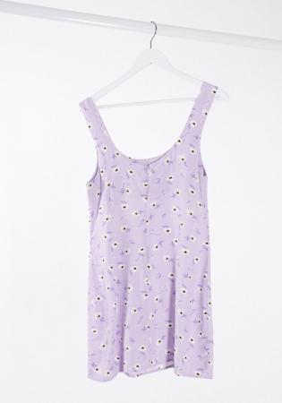 Lila jurk zonder mouwen