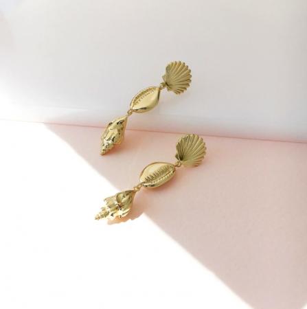 Boucles d'oreilles en or plaqué