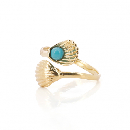 Bague touche turquoise