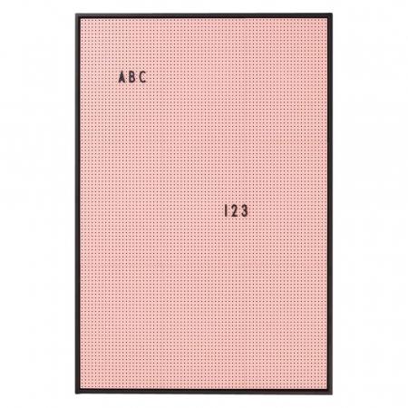 Roze letterbord met zwart kader