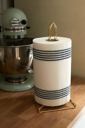 Goudkleurige keukenpapierhouder