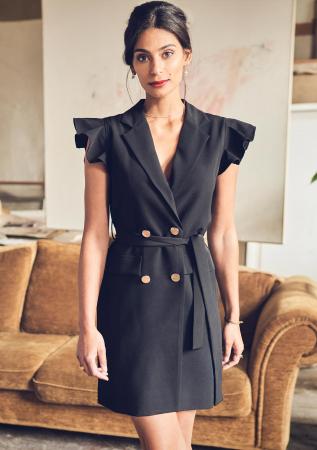 Zwarte blazerjurk