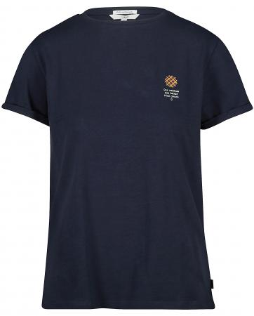 T-shirt van biokatoen met quote 'O<em>ur waffles are</em><em>better than yours'</em>