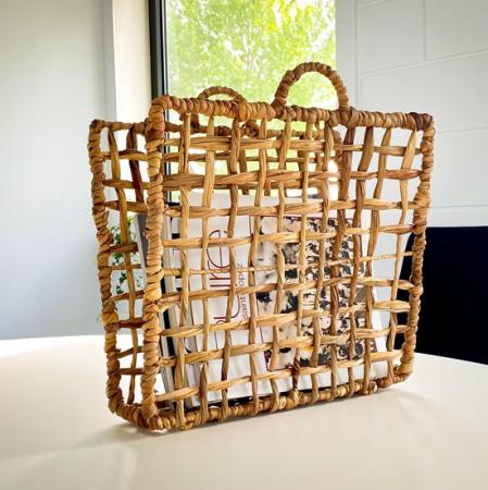 Tijdschriftenrek uit bamboe