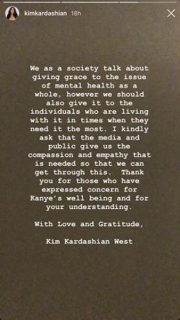 Kim Kardashian sur Instagram