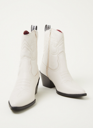 Witte cowboyboots