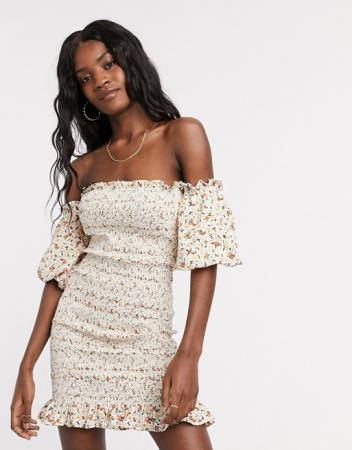 Mini-jurk in bloemenprint