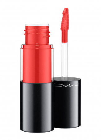 Versicolour Varnish Cream Lip Stain in de kleur 'Optix Orange' van M.A.C Cosmetics
