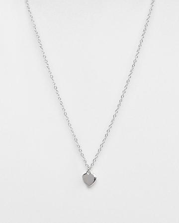 Zilveren ketting met hartje