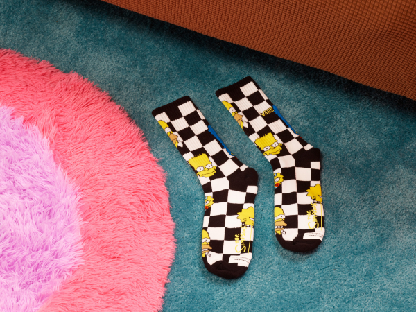 Sokken (ook in geel dambordpatroon)