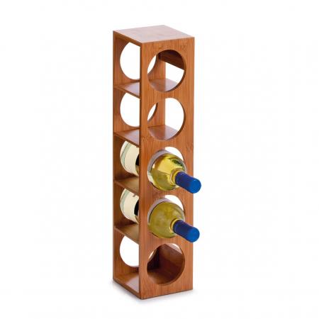 Wijnrek uit bamboe voor 5 flessen