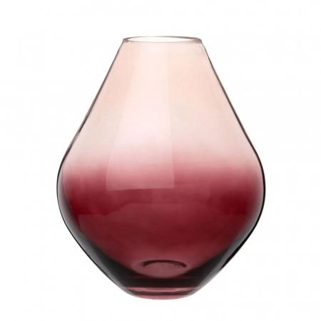 Rode vaas met kleurverloop