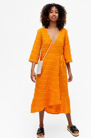 Oranje wikkeljurk